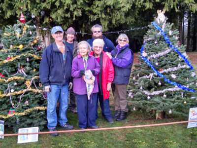 Christmas tree decorating at Amboy